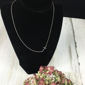 Stella & Dot Interlock Sterling Cross Necklace